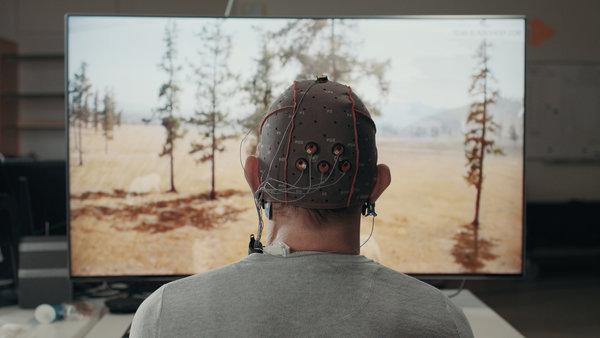 Telewizor sterowany falami mózgowymi