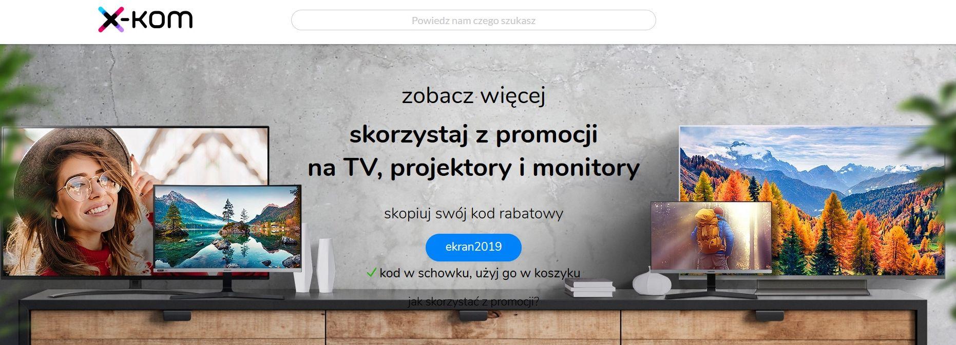 X-kom: promocje na telewizory