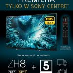 Sony ZH8: promocja na telewizory 8K