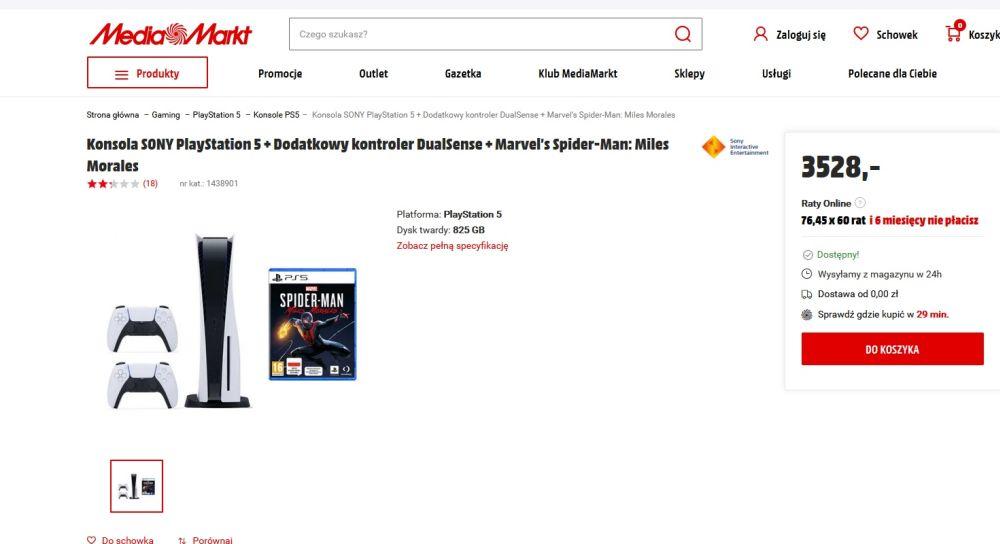 Playstation 5 w Media Markt