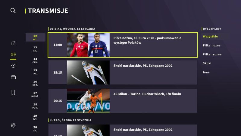 TVP Sport w Samsung Smart TV / fot. Samsung