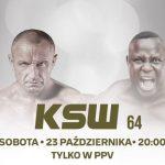 KSW 64: gdzie oglądać online i w telewizji?